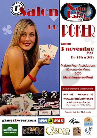 Affiche salon du poker